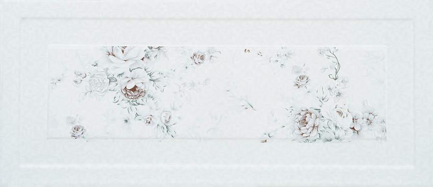 26×60 Rose Decor White Ceramics