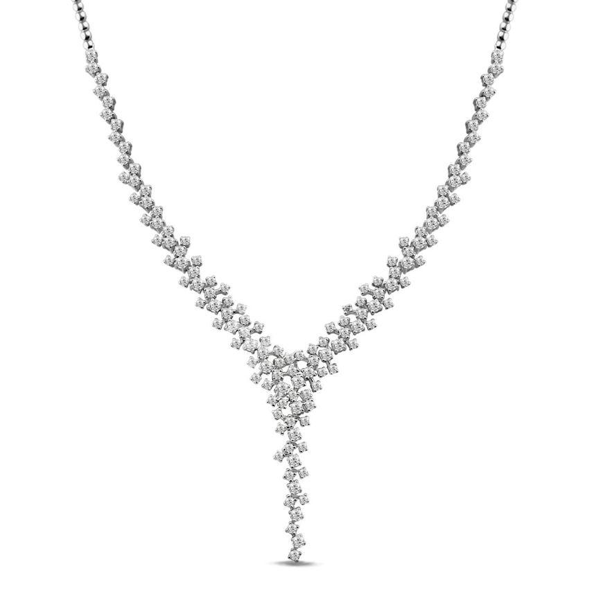 3.67 Carat F Color Diamond Necklace | Roberto Bene