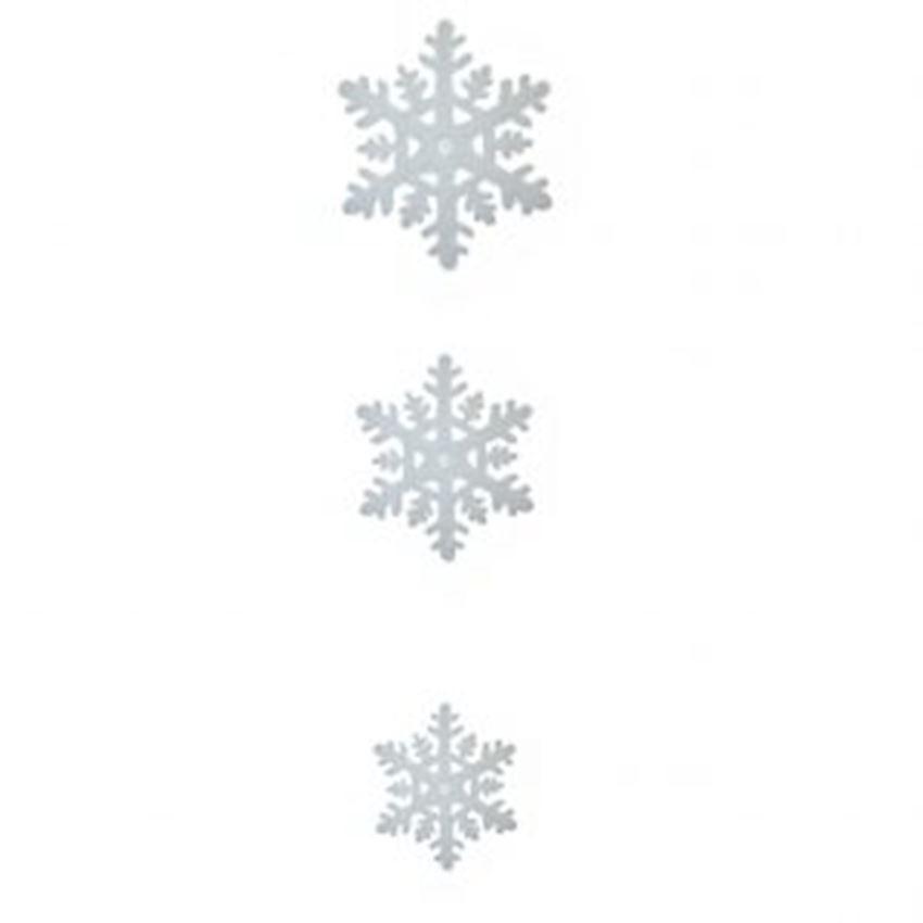 3pcs Snowflake Christmas Ceiling Ornament White 50cm Christmas Decoration Supplies