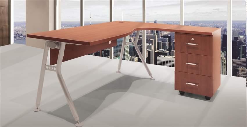 4 LINE STAFF GROUPS BENDER Metal Leg Office Desks