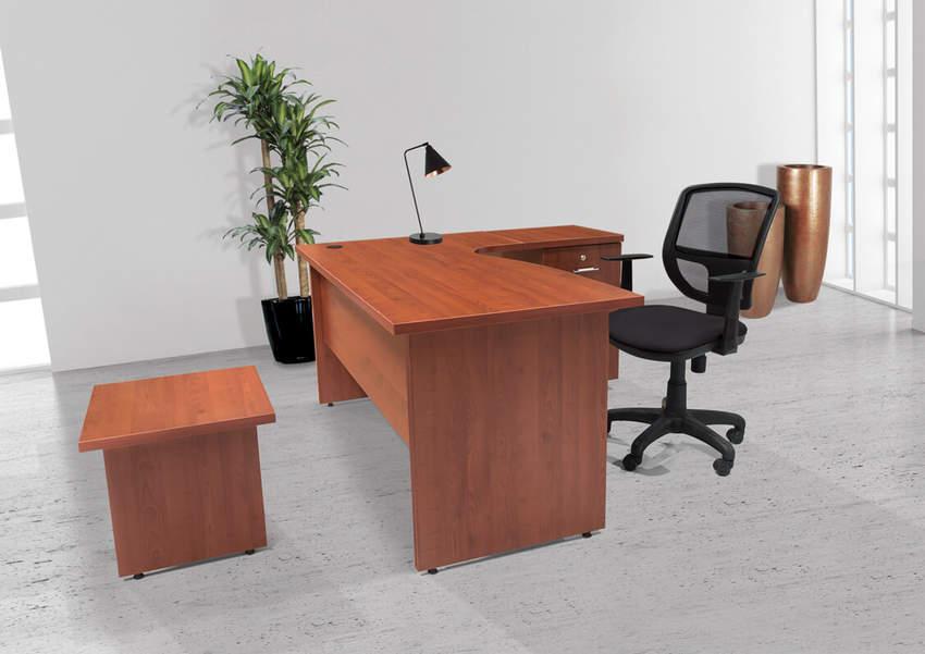 4 LINE STAFF GROUPS BENDER Wooden Leg Office Desks