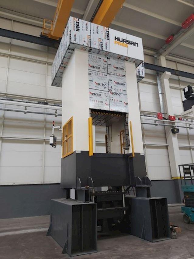 400 Ton Hursan Plaster Press Table 1500 x 1250