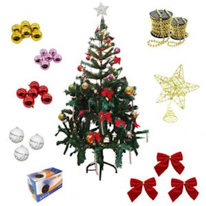 44 Piece Eco Christmas Tree Ornament Set Christmas Decoration Supplies