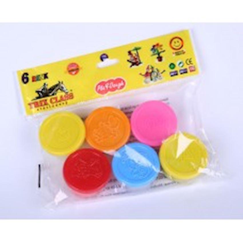 6 Piece Play Dough - Small Playdough Toys