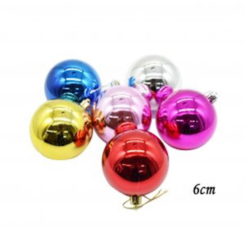 6 Pieces Lovely Christmas Tree Decoration Assortment 6cm Christmas Decoration Supplies