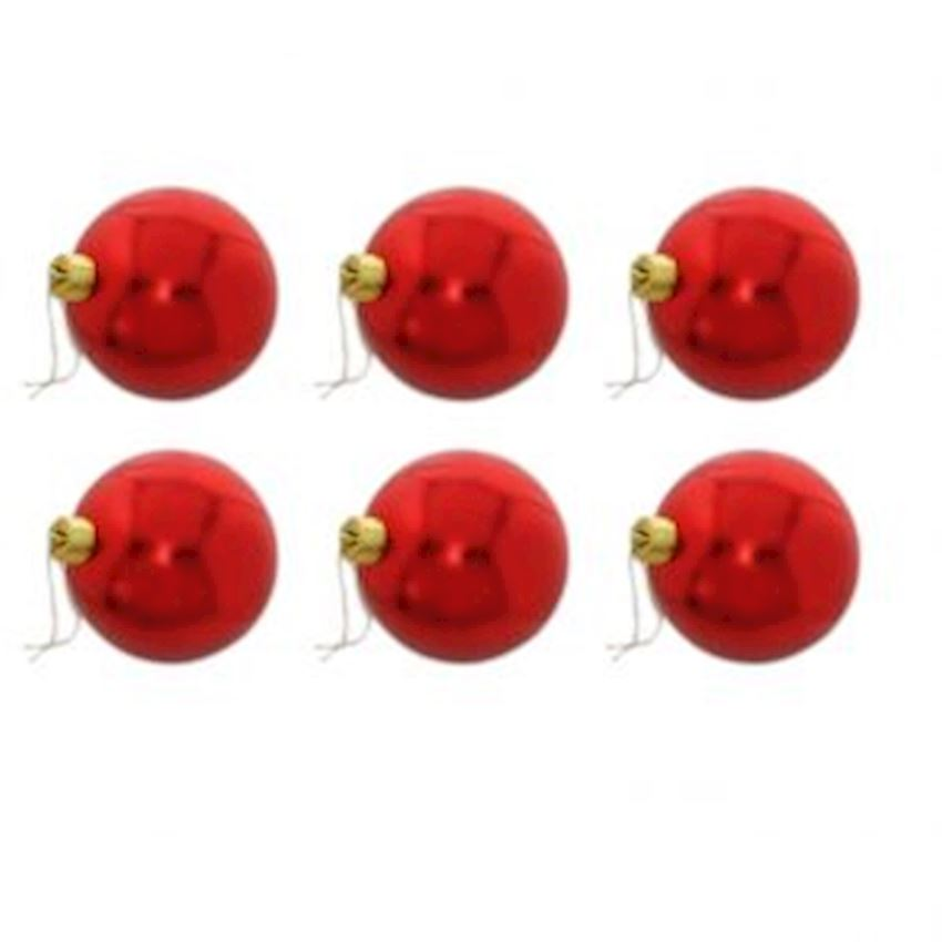 6 Pieces Lovely Christmas Tree Decoration Red 6cm Christmas Decoration Supplies