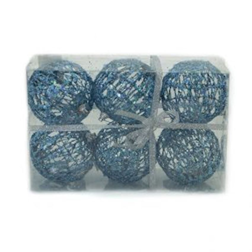 6 string stringed Christmas ball 6cm blue Christmas Decoration Supplies