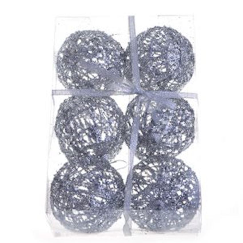 6 String Stringed Top Christmas Ornament 6cm Silver Christmas Decoration Supplies