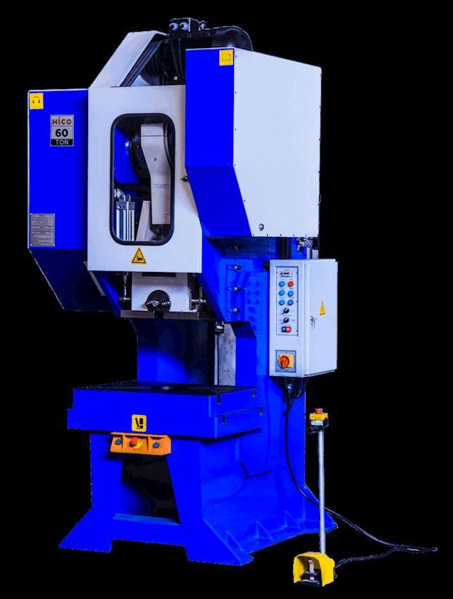 60 Ton Pneumatic Clutch Angled Eccentric Press