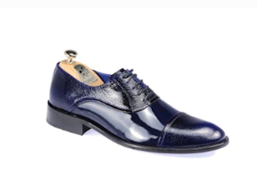 Paul Branco 65008 Men's Bright Blue Classic Shoes