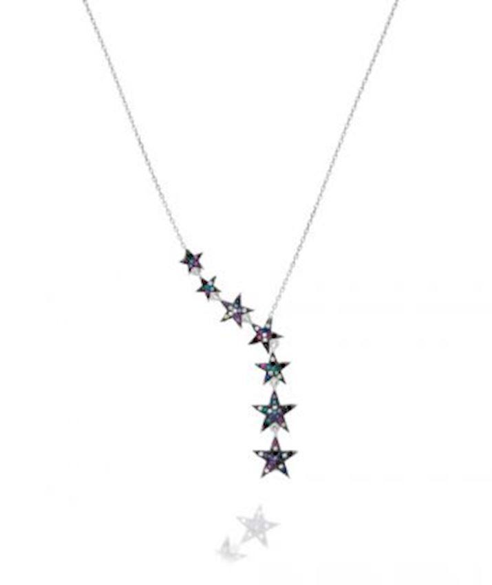7 Stars Necklace, Multicolor