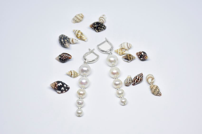 925 Sterling Silver Natural Pearl Earring
