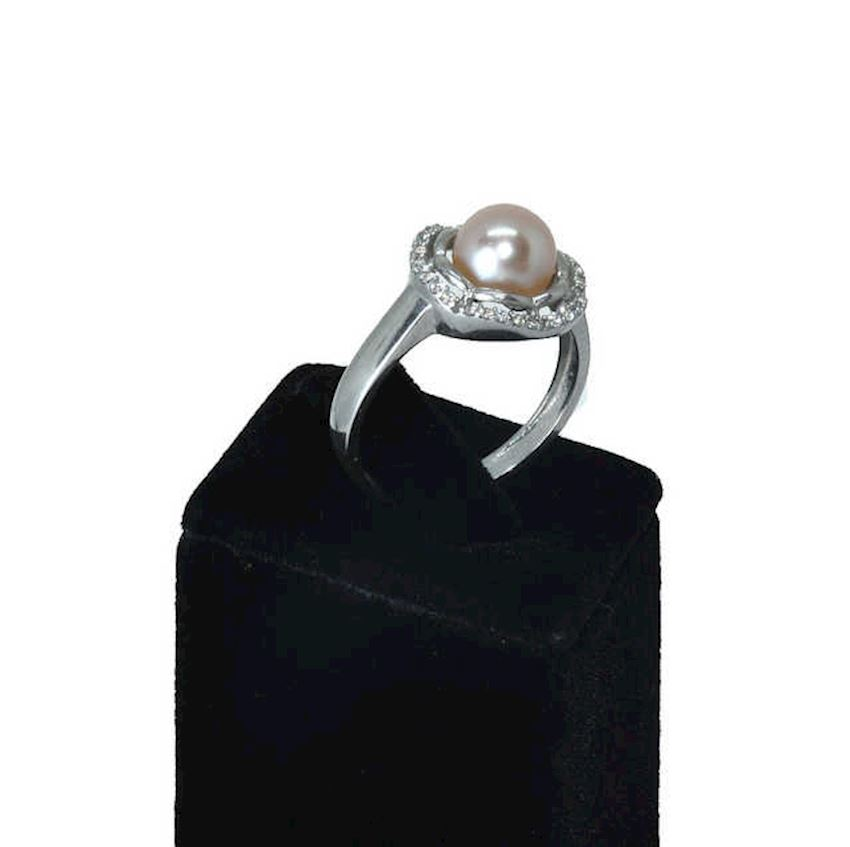 925 Sterling Silver Pearl Ring AH-0127