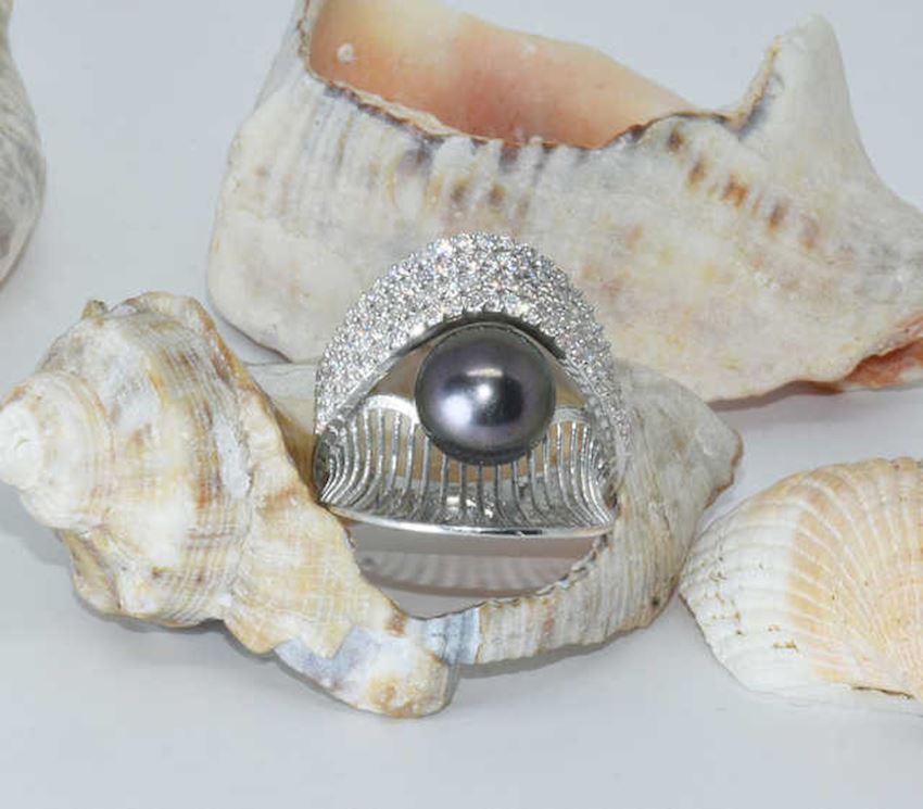 925 Sterling Silver Pearl Ring AH-0134