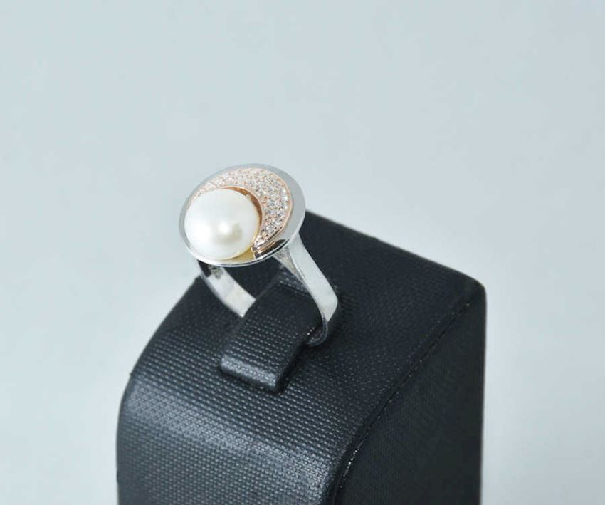 925 Sterling Silver Pearl Ring AH-0139