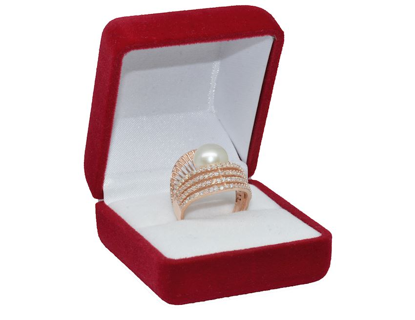 925 Sterling Silver Pearl Ring AH-0155