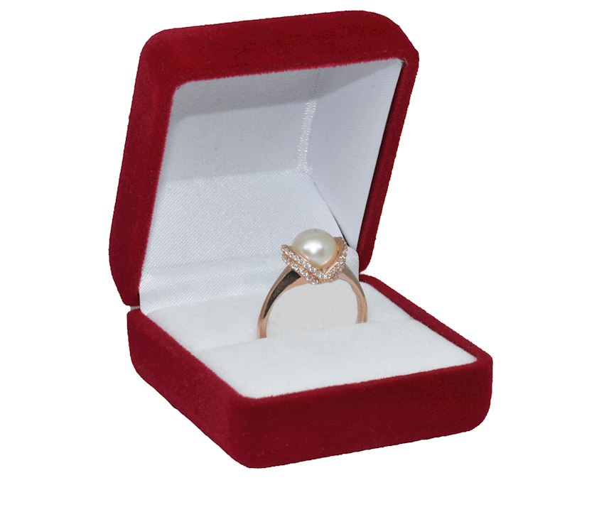 925 Sterling Silver Pearl Ring AH-0156