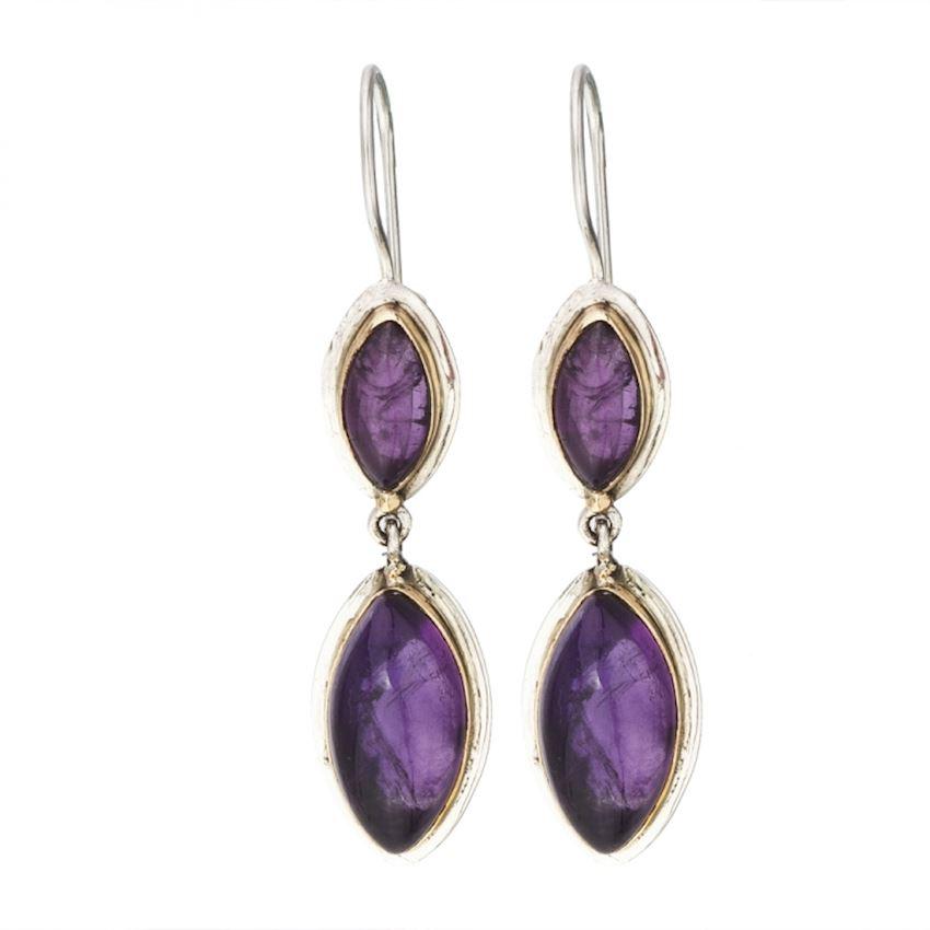 AGP Purple Silver Earring 5227