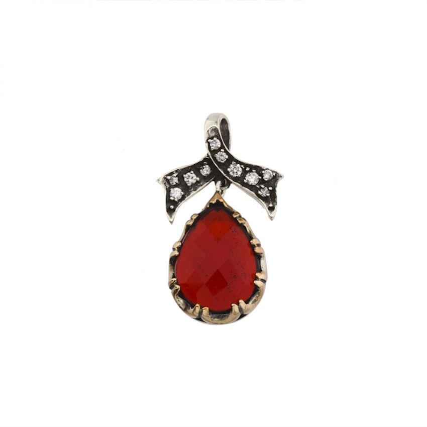 AGP Red  Silver Earrings Model 5216