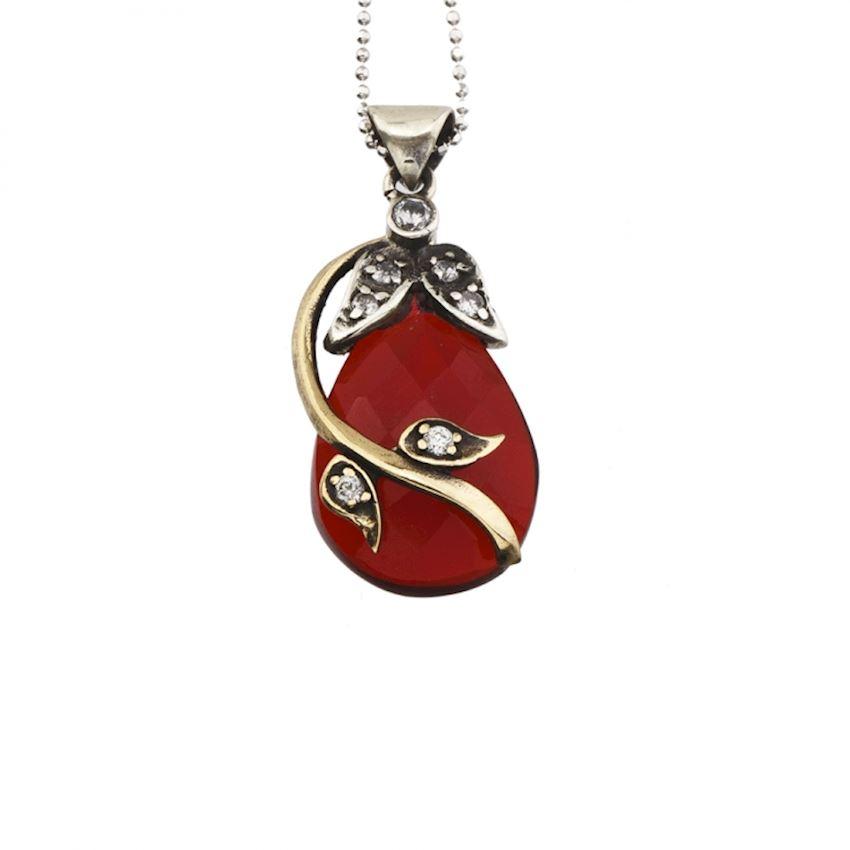 AGP Silver Red Earrings Model 5217