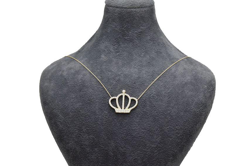 Ahsen 14K Gold Necklace Crown Model