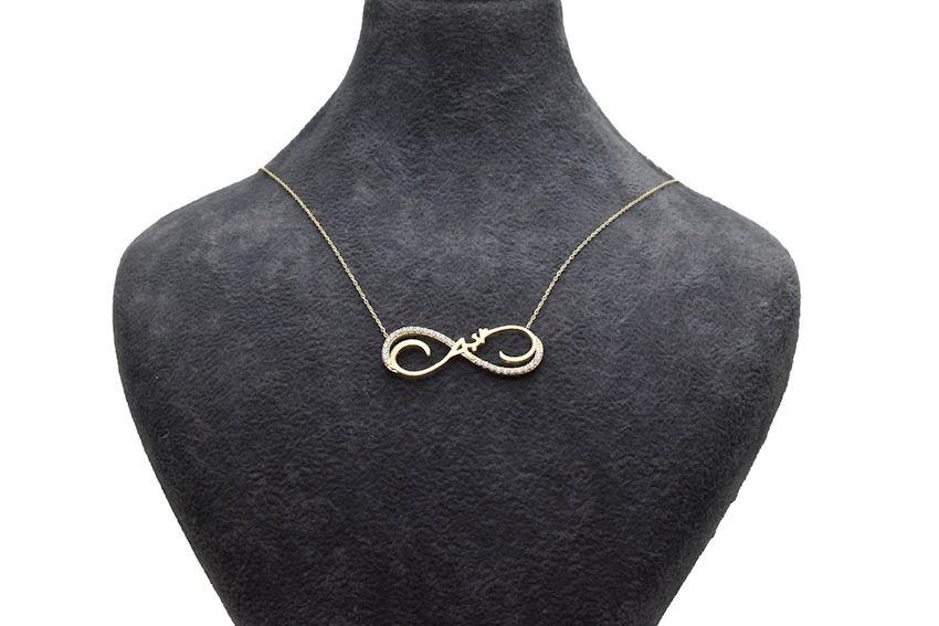 Ahsen 14K Gold Necklace Infinity Model