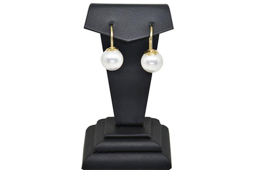 Ahsen 14K Gold - White Majorica Earrings