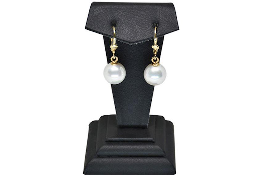 Ahsen 14K Gold Yellow Majorica Earrings