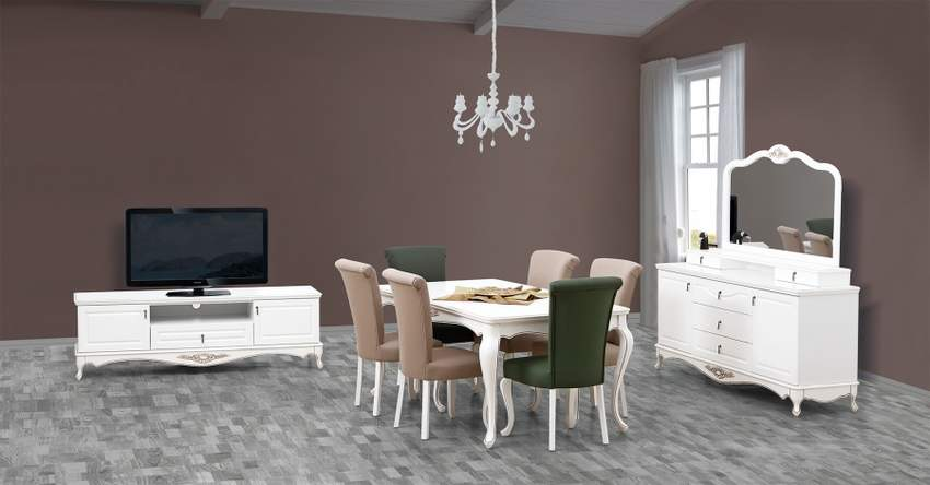 Aktemo Almina Country Dining Room, Country Dining Room Sets