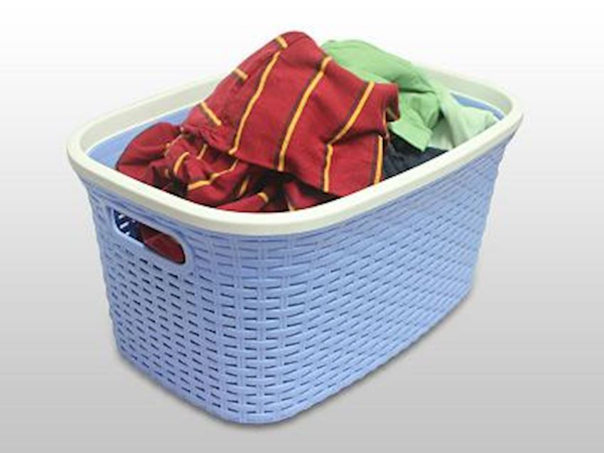 ALKAN Wicker Laundry Basket Home Appliance Plastic