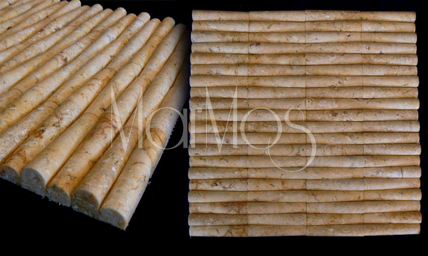 Antique Gold Bamboo Marble Stone