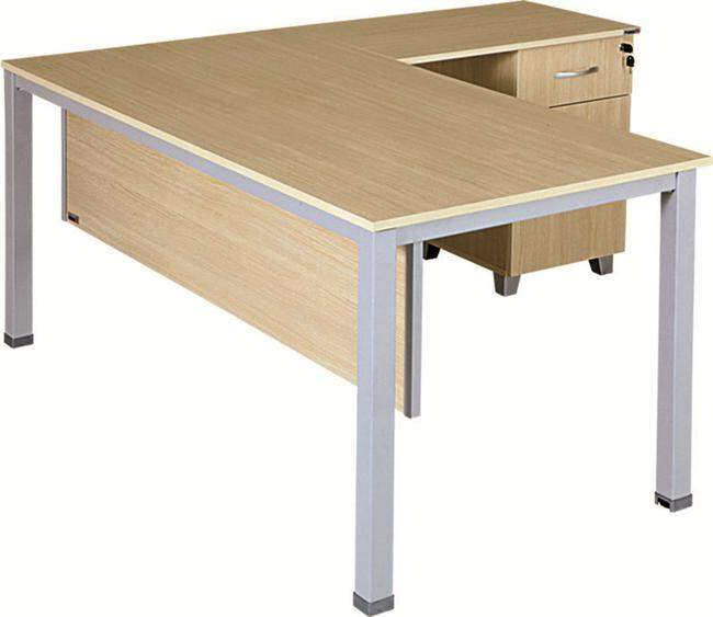 """ARSU officer table ILGAZ L-160 """"L"""" Cable Tray Officer Table 160 * 80 * 75,5h Office Desks"""