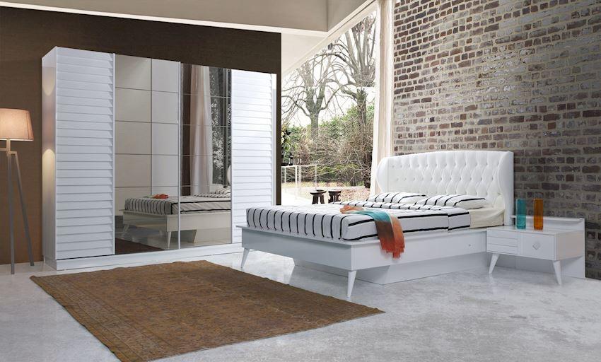 AYAZ WHITE BEDROOM SET