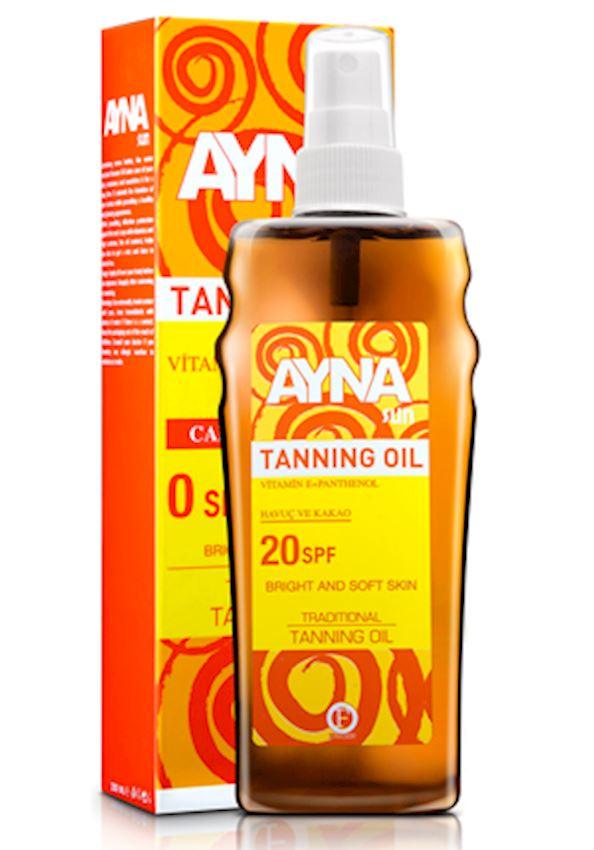 Aynasun Tanning Oil (20 spf. Carrot + Cocoa)