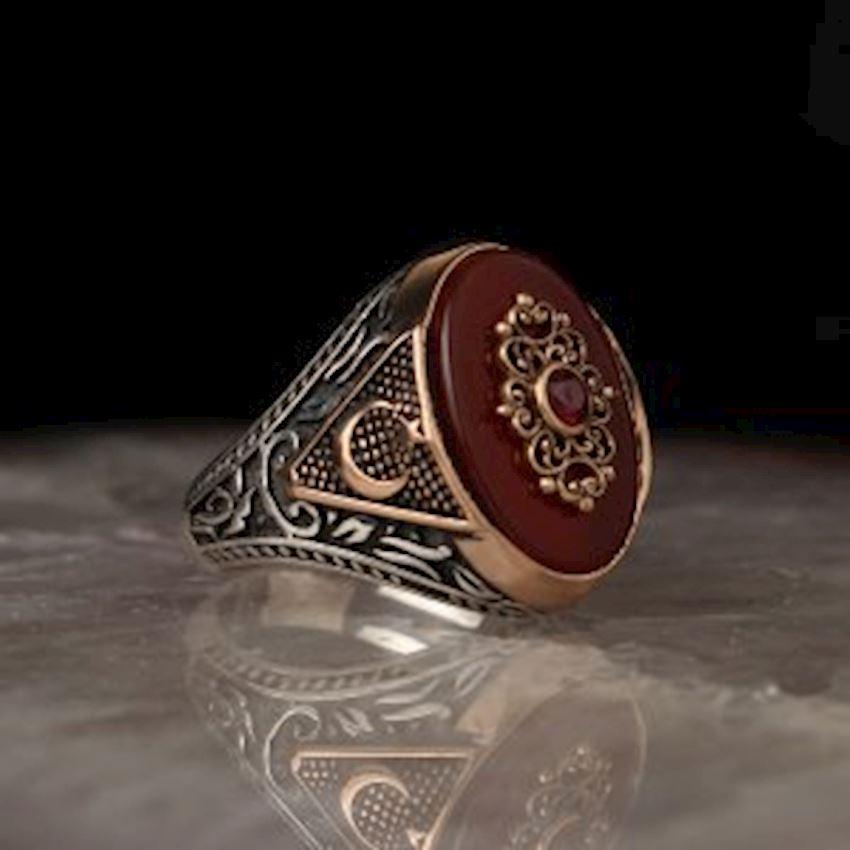 Ayyıldız Agate Sterling Silver Ring