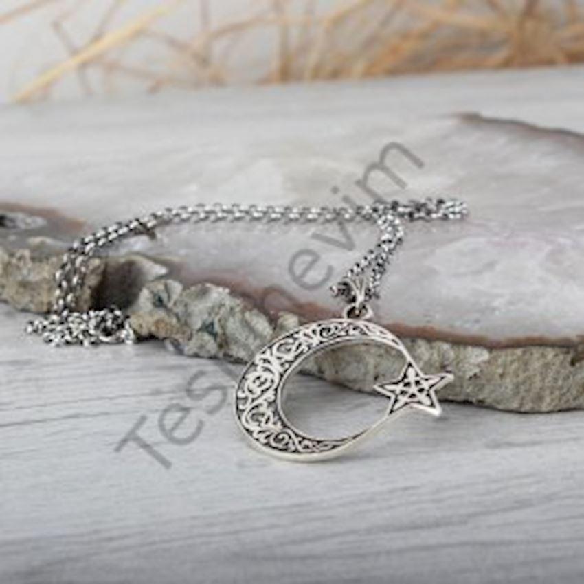 Ayyıldız Silver Men Necklace