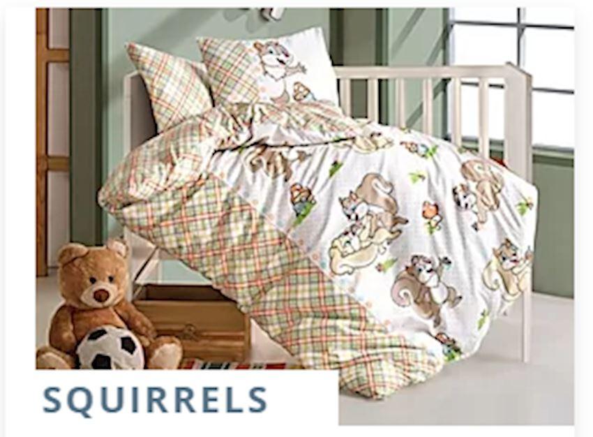 Baby Bed linen SQUIRRELS