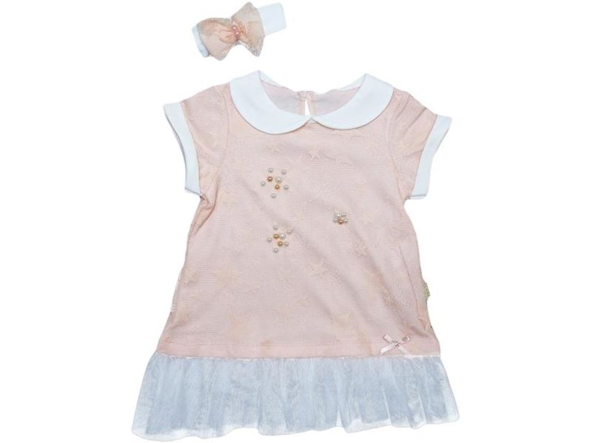 Baby Girl Dress Double Sleeve Star
