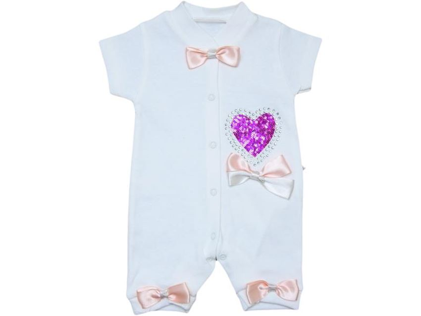 Baby Girl Overalls With Sequin Heart