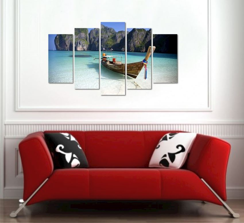 Bahamas MDF Painting 5 Pieces 100x60cm