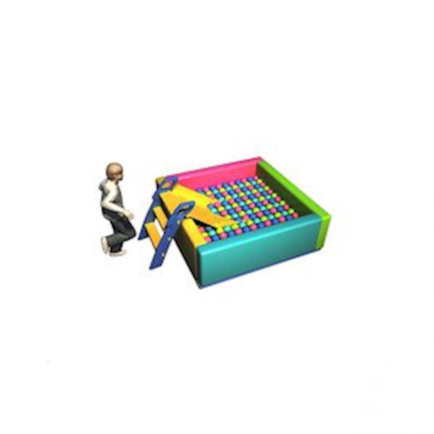 Ball Pool with Sponge 130x130x50 cm Amusement Park