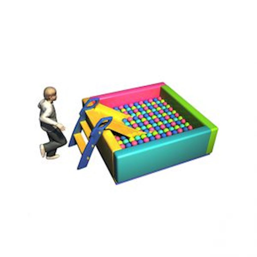 Ball Pool with Sponge 150x150x50 cm Amusement Park