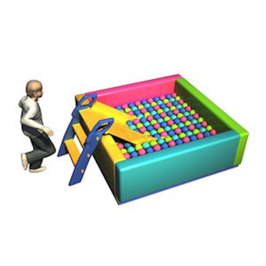 Ball Pool with Sponge 175x175x50 cm Amusement Park