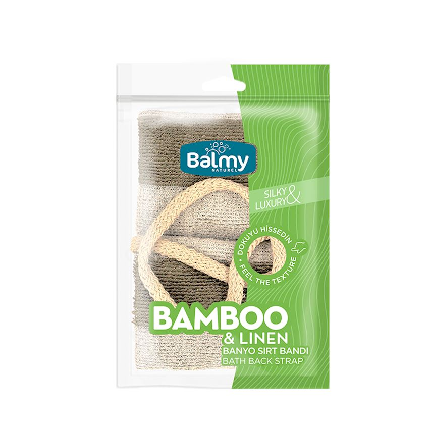 Bamboo Linen Bath Backpap Bath Brushes, Sponges & Scrubbers