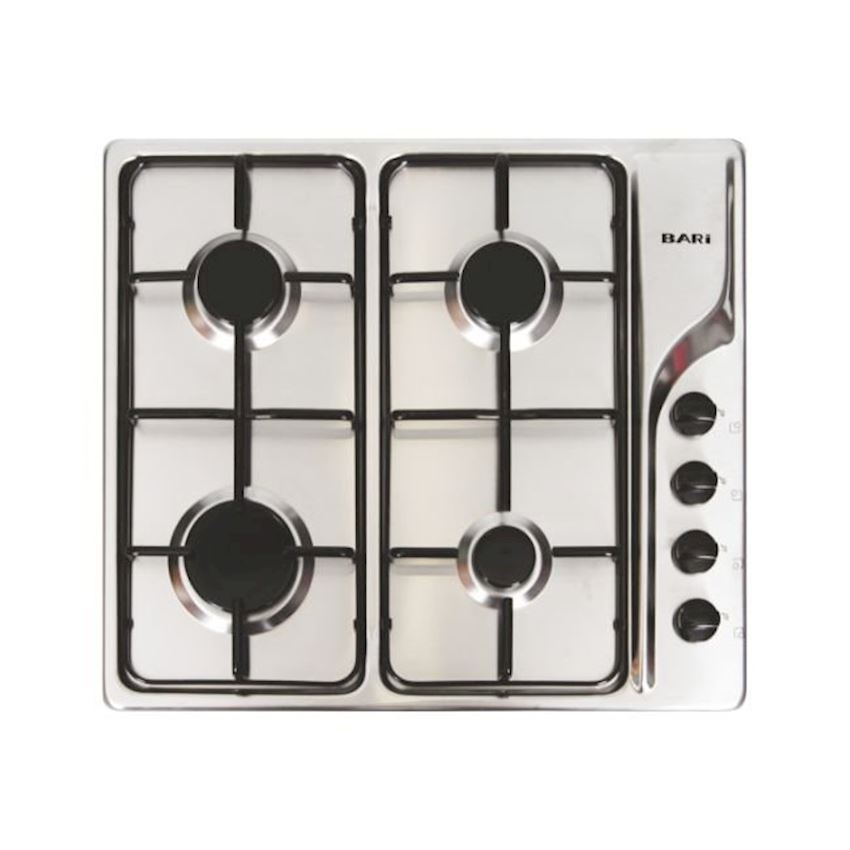Bari Built-in Chrome Safety Glass Hob 2440ICE