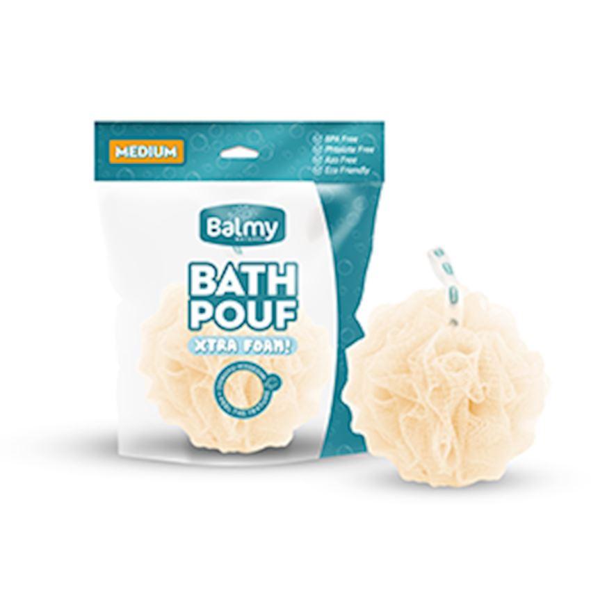 Bath Pouf Medium Cream Bath Brushes, Sponges & Scrubbers