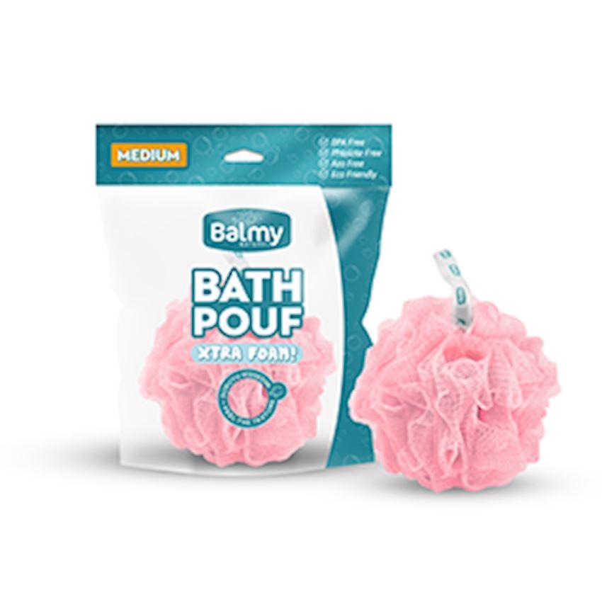 Bath Pouf Medium Pink Bath Brushes, Sponges & Scrubbers