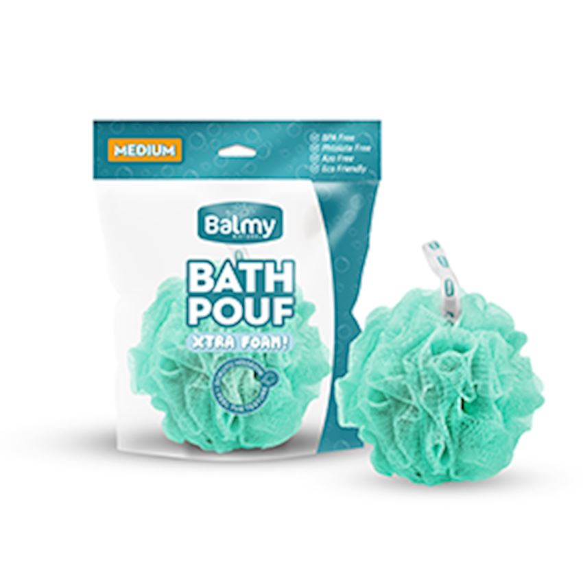 Bath Pouf Medium Turquoise Bath Brushes, Sponges & Scrubbers