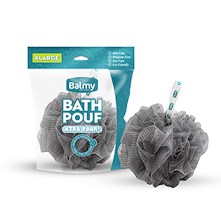 Bath Pouf Xl Metallic Gray Bath Brushes, Sponges & Scrubbers