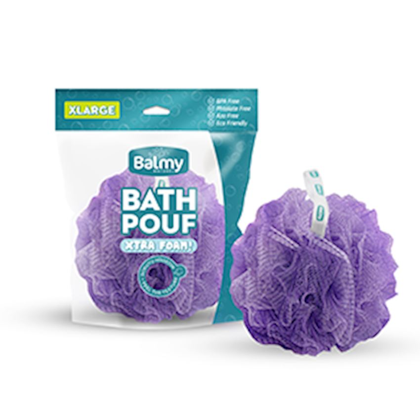 Bath Pouf Xl Metallic Lila Bath Brushes, Sponges & Scrubbers